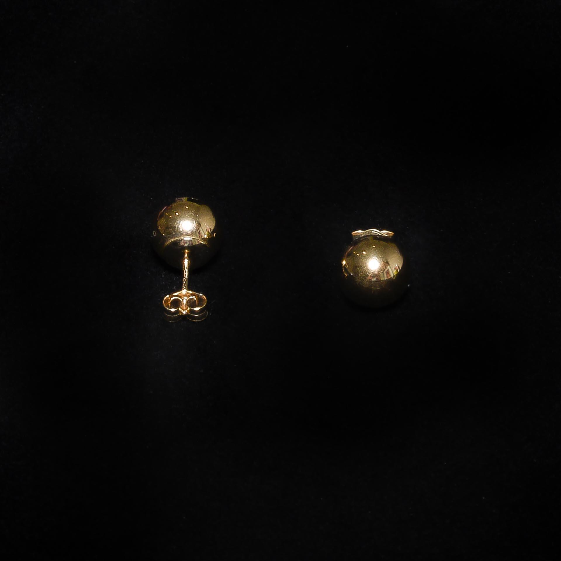 Boucles d'Oreilles Boule lisse